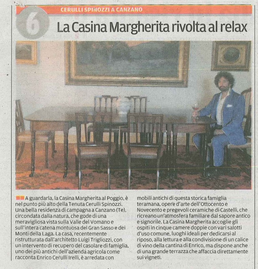 Casina Margherita rivolta al relax